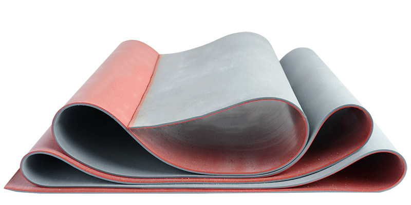 Natural rubber membrane 45 Shore A red / grey