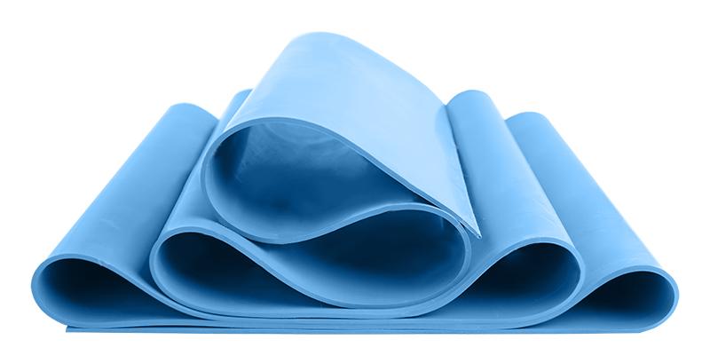 Silicone membrane 45 Shore A blue